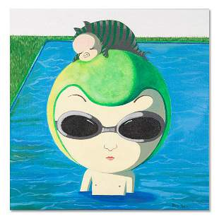 "Pop Original Oil On Canvas ""Boy On Vacation"""
