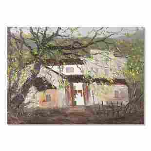 "Original Architecture Oil Painting ""Untitled"""