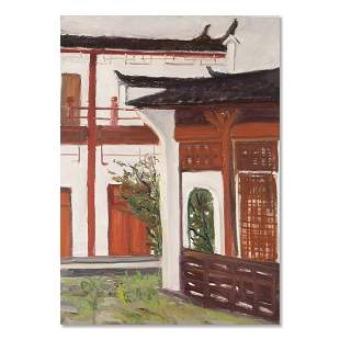 """Architecture Original Oil On Canvas """"Old House"""""""