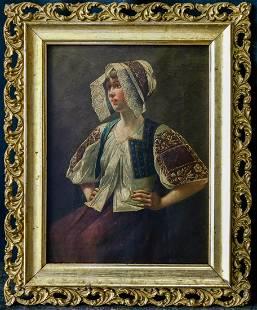 Jules Bastien-Lepage (France 1848 - 1884) Oil Painting