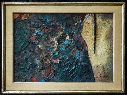 Tadeus Kantor (Poland 1915 - 1990) Large Oil/Mixed