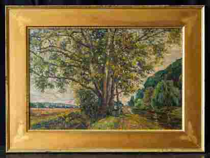 Jean-Baptiste Armand Guillaumin (1841 - 1927) Oil