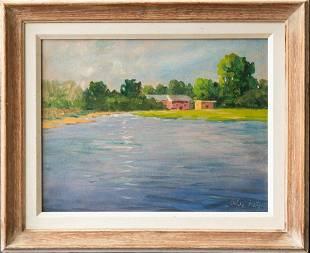 Alex Katz (Born 1927) New York, Maine Listed Artist Oil