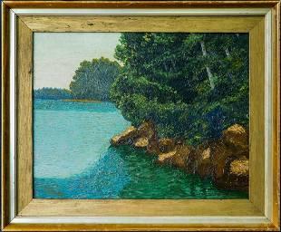 Charles Isaac Ginner (France, England 1878 - 1952) Oil