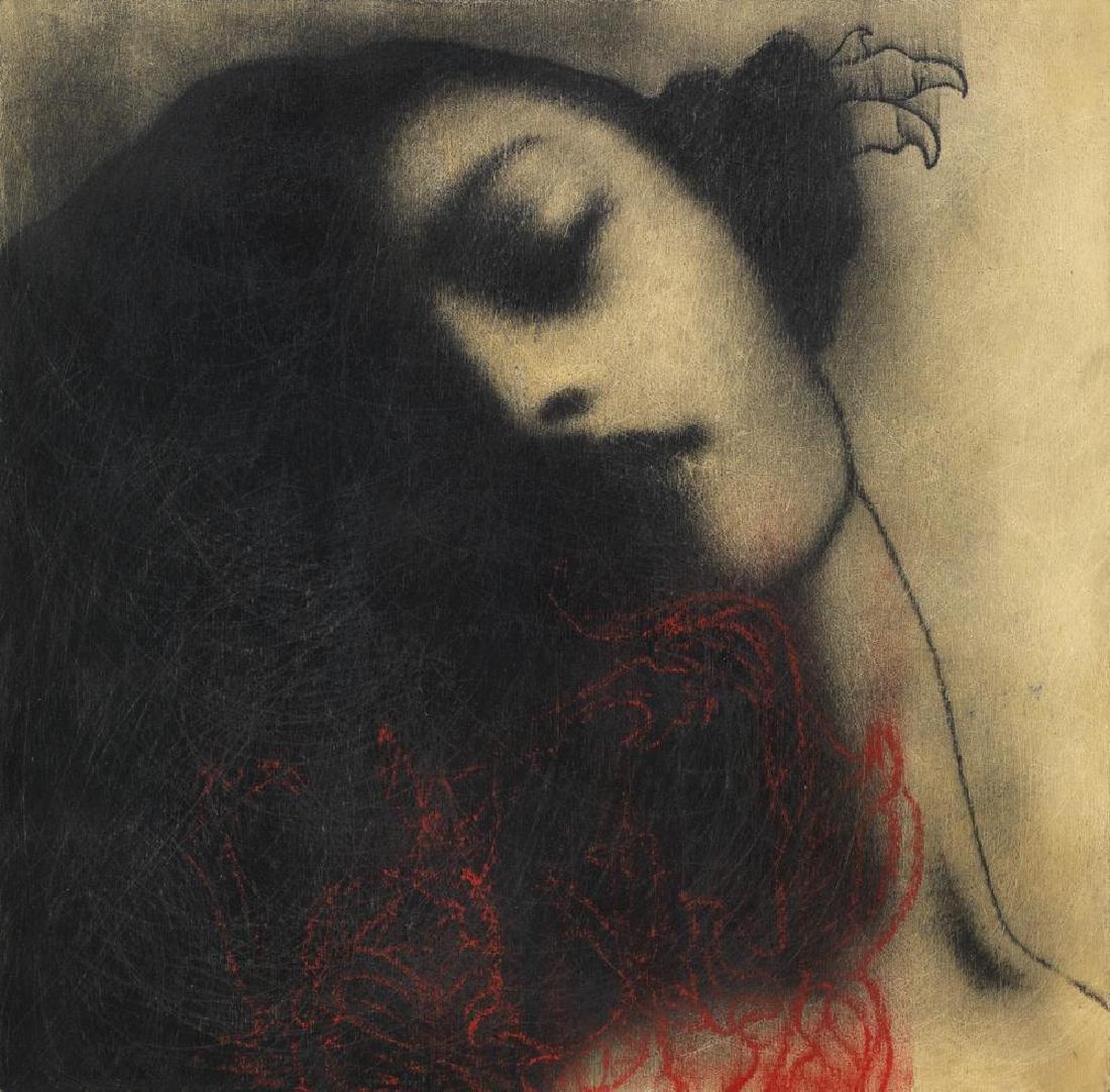 Omar Galliani  NUOVI FIORI NUOVI SANTI, 2008 grafite e