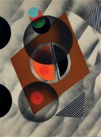 Nicolay Diulgheroff COMPOSIZIONE 38 collage su cartone,