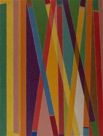 Piero Dorazio MATCH olio su tela, cm 165x125 sul retro: