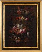 Pieter Casteels III COMPOSIZIONE FLOREALE olio su tela,