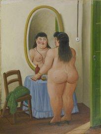 Fernando Botero LA TOILETTE olio su tela, cm 52x39…