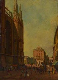 Luigi Bisi (1814 - 1886) CONTRADA DEI BORSINARI VISTA