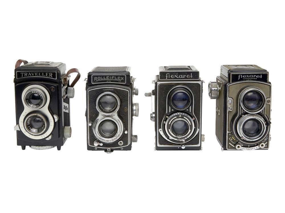 Lotto di quattro macchine fotografiche TLR 1.