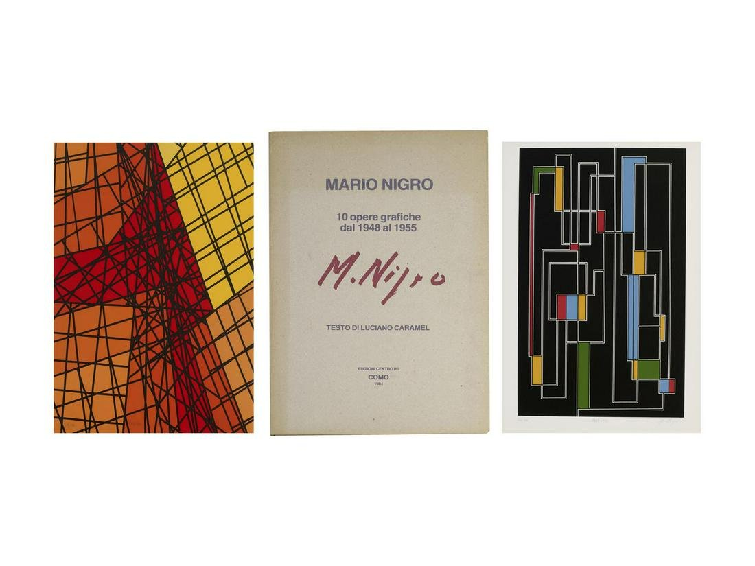 Mario Nigro (1917 - 1992) MARIO NIGRO 10 OPERE GRAFICHE