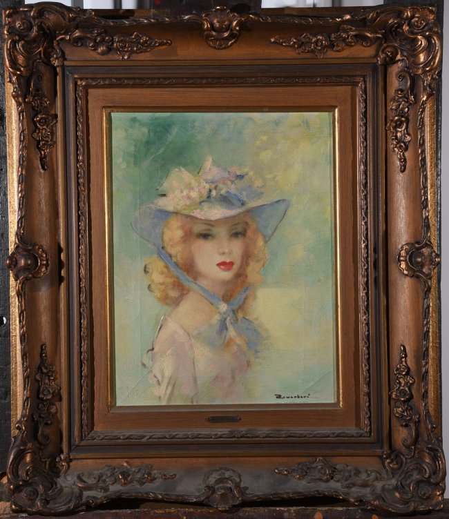 M.REVERBERI (XX) French young lady portrait