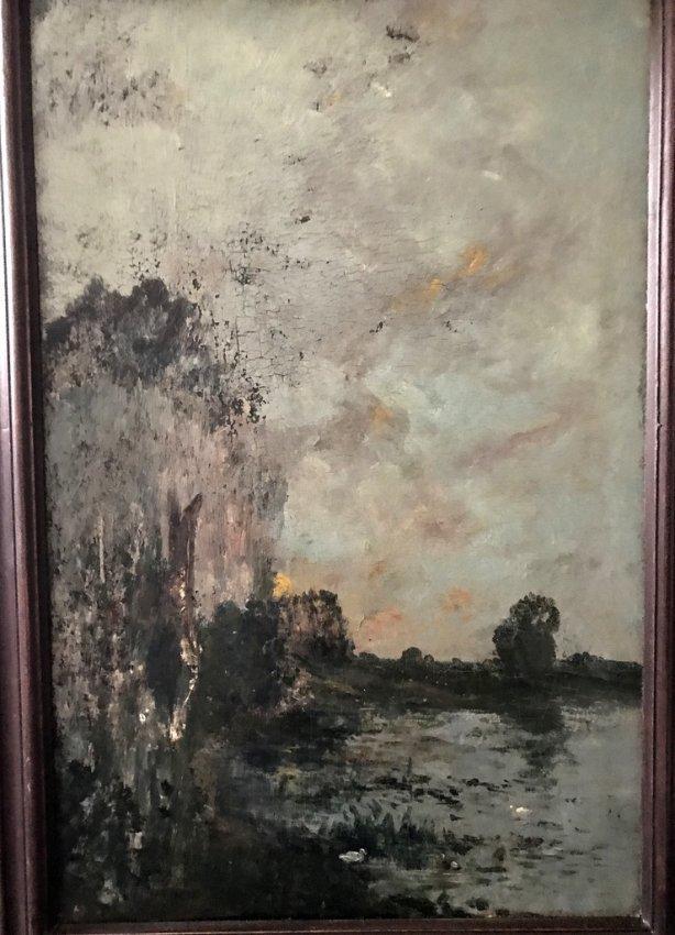 MANNER HARPIGNES (XX) LAKE WITH DUCKS