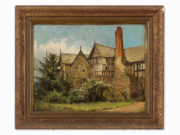 BENJAMIN WILLIAM LEADER(1831-1923), Old Cottage