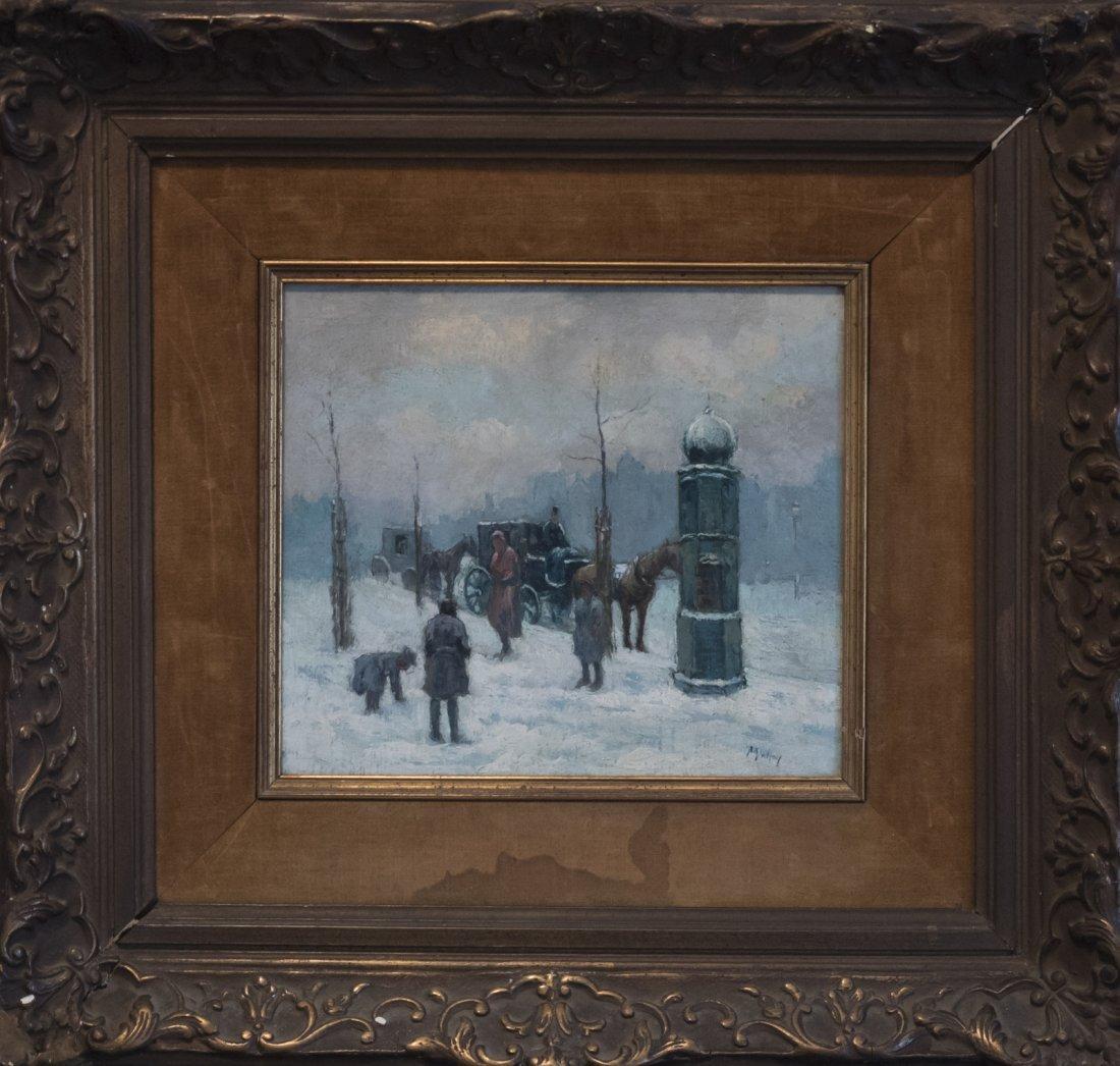 MALFROY (XIX-XX) WINTER IN PARIS