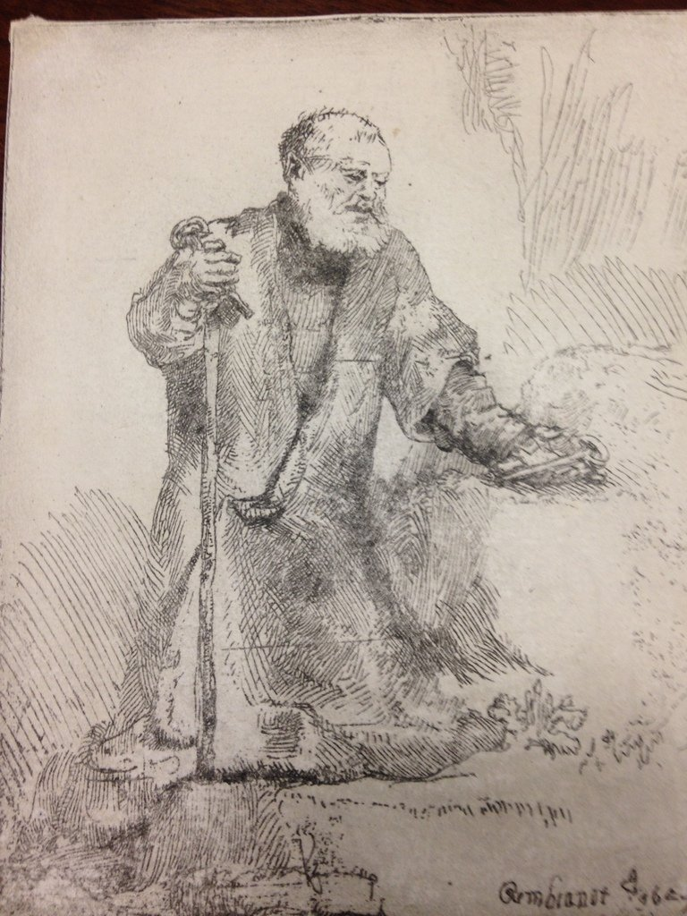 St Peter in Penitence . REMBRANDT PRINT