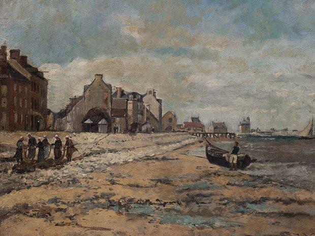 JULIEN GUSTAVE GAGLIARDINI(1846-1927), Coastal Scene