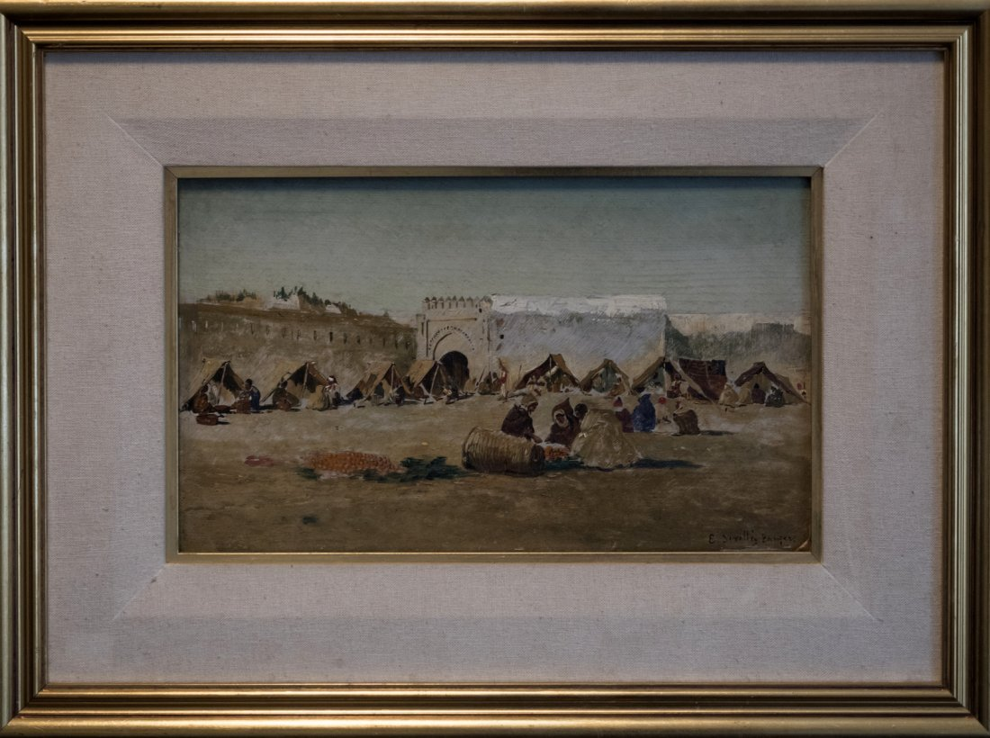 EMILIO SIVILLA TORRES (1845-1894) Arab Market