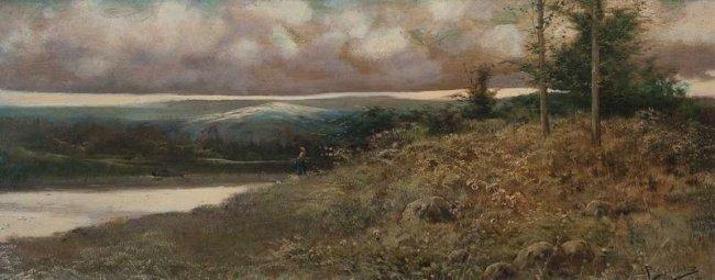 19thc J PAGES ORTIZ. Landscape