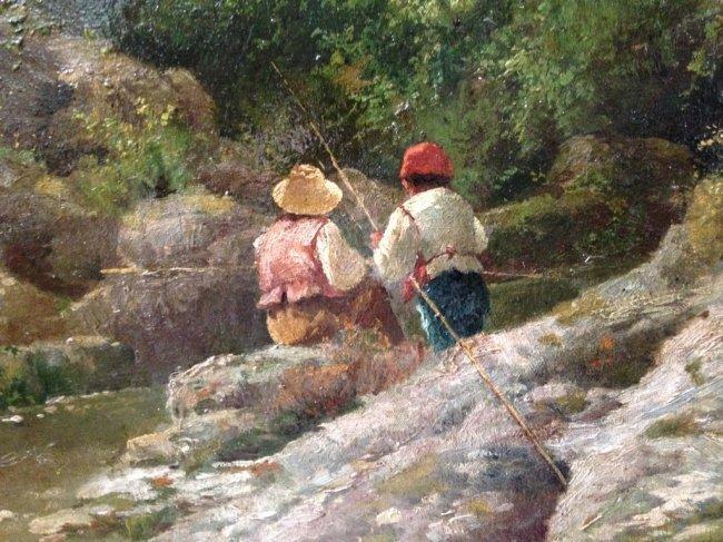 FRANCESCO CAPUANO (1854-1908) FISHING - 8