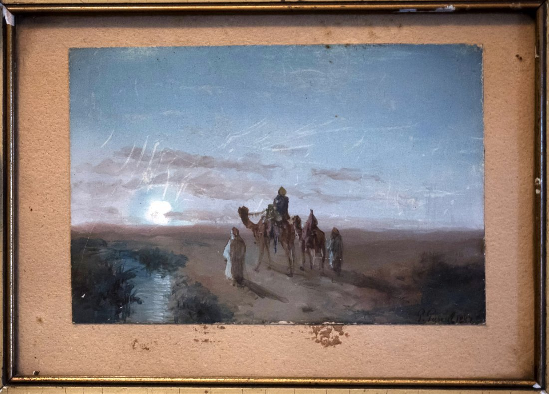 PAULPASCAL (1839-1905) Arab Landscape