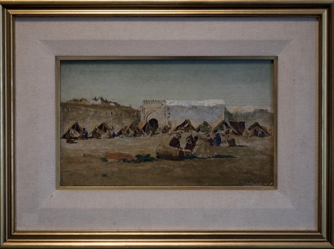 EMILIO SIVILLA TORRES (1845-1894) Arab Market - 2