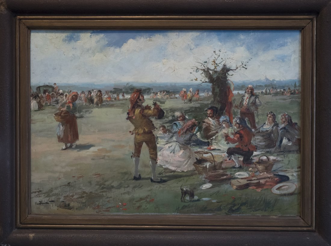 EMILIO POY DALMAU (1876-1933) GYPSY BREAK