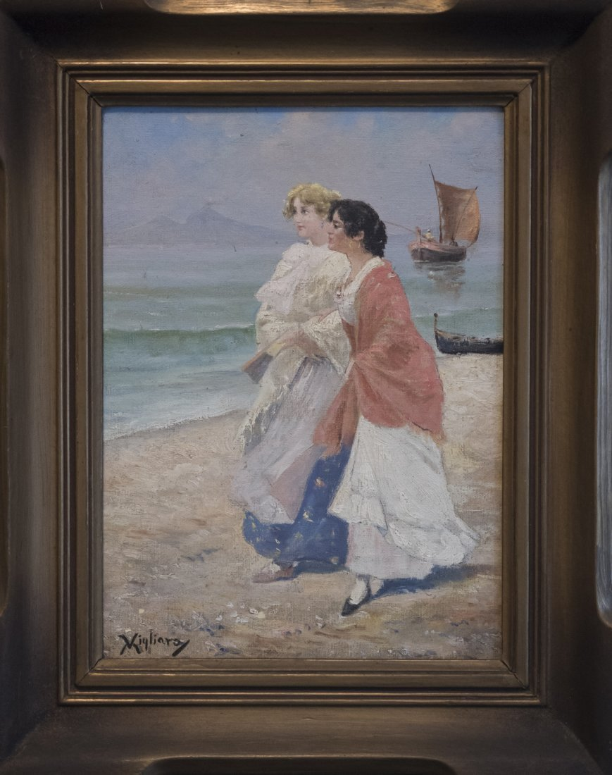 VINCENZO MIGLIARO (1858-1938) TWO LADIES