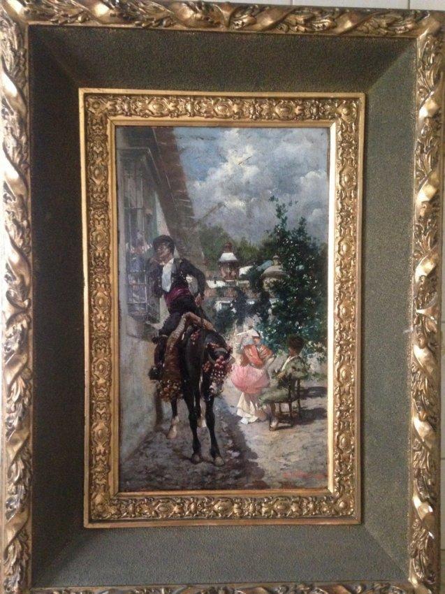 RICCARDO PELLEGRINI (1863-1934) Romantic Scene