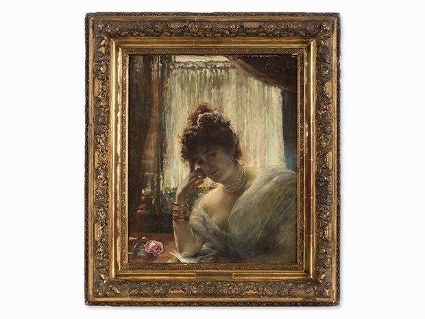 ÉDOUARD RICHTER(1844-1913) Female Portrait