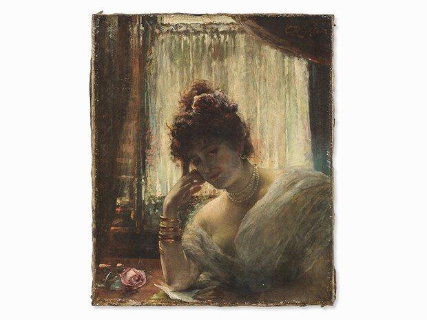 ÉDOUARD RICHTER(1844-1913) Female Portrait - 2