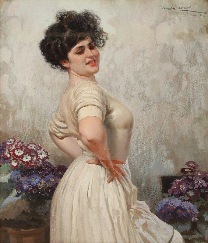 Mario Borgoni (1869-1936) Neapolitan Beauty
