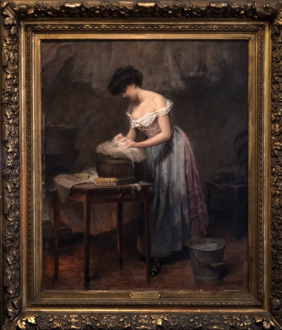 LOUIS AMELIE LANDRE (1852-?) La Lavandier