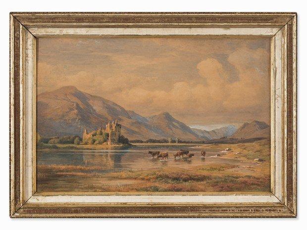 PAUL WEBER (1823-1916) Castle at the Riverside