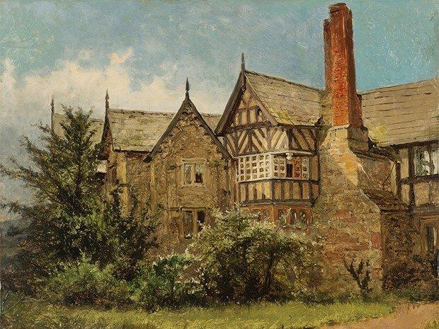 BENJAMIN WILLIAM LEADER(1831-1923), Old Cottage - 3