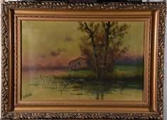 JOSE MARIA TAMBURINI (1856-1932) Landscape (x2)