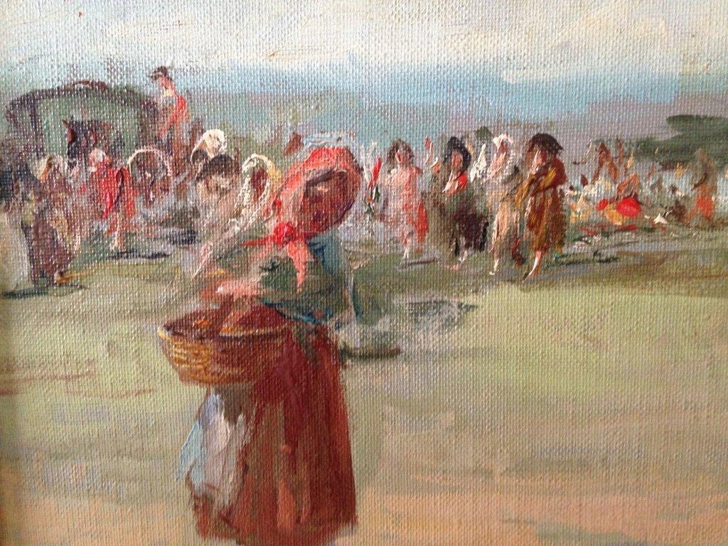 EMILIO POY DALMAU (1876-1933) GYPSY BREAK - 3