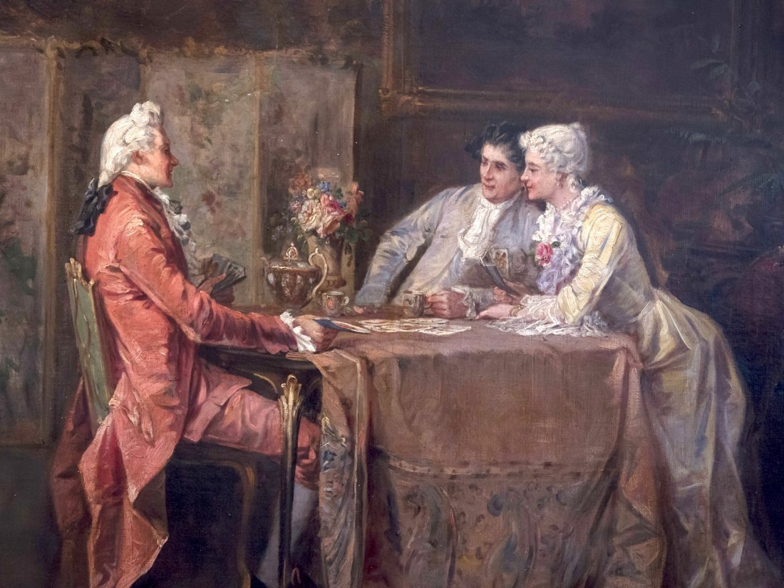 VICTOR JOSEPH CHAVET (1822-1906) Playing cards