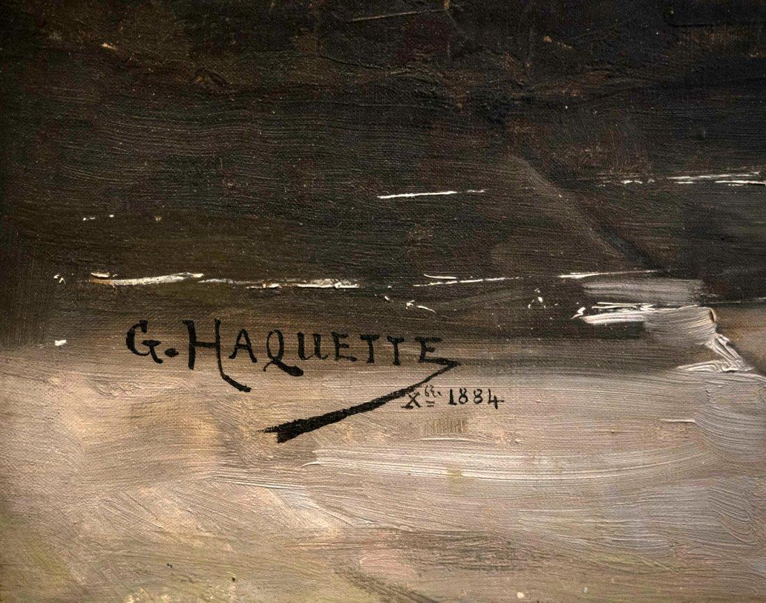 """GEORGES JEAN MARIE HAQUETTE (1854-1906) """"Le Depart """" - 10"""