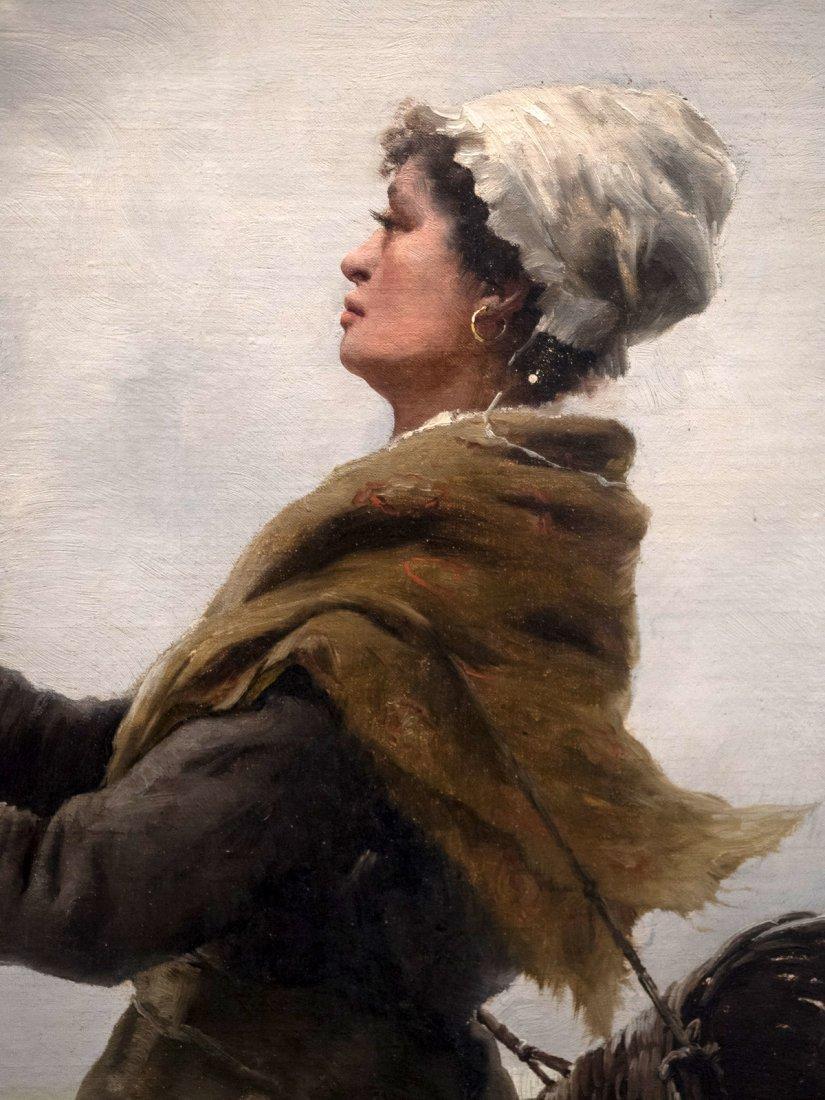 """GEORGES JEAN MARIE HAQUETTE (1854-1906) """"Le Depart """" - 4"""