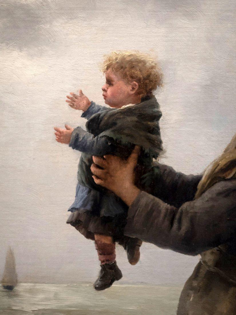 """GEORGES JEAN MARIE HAQUETTE (1854-1906) """"Le Depart """" - 5"""