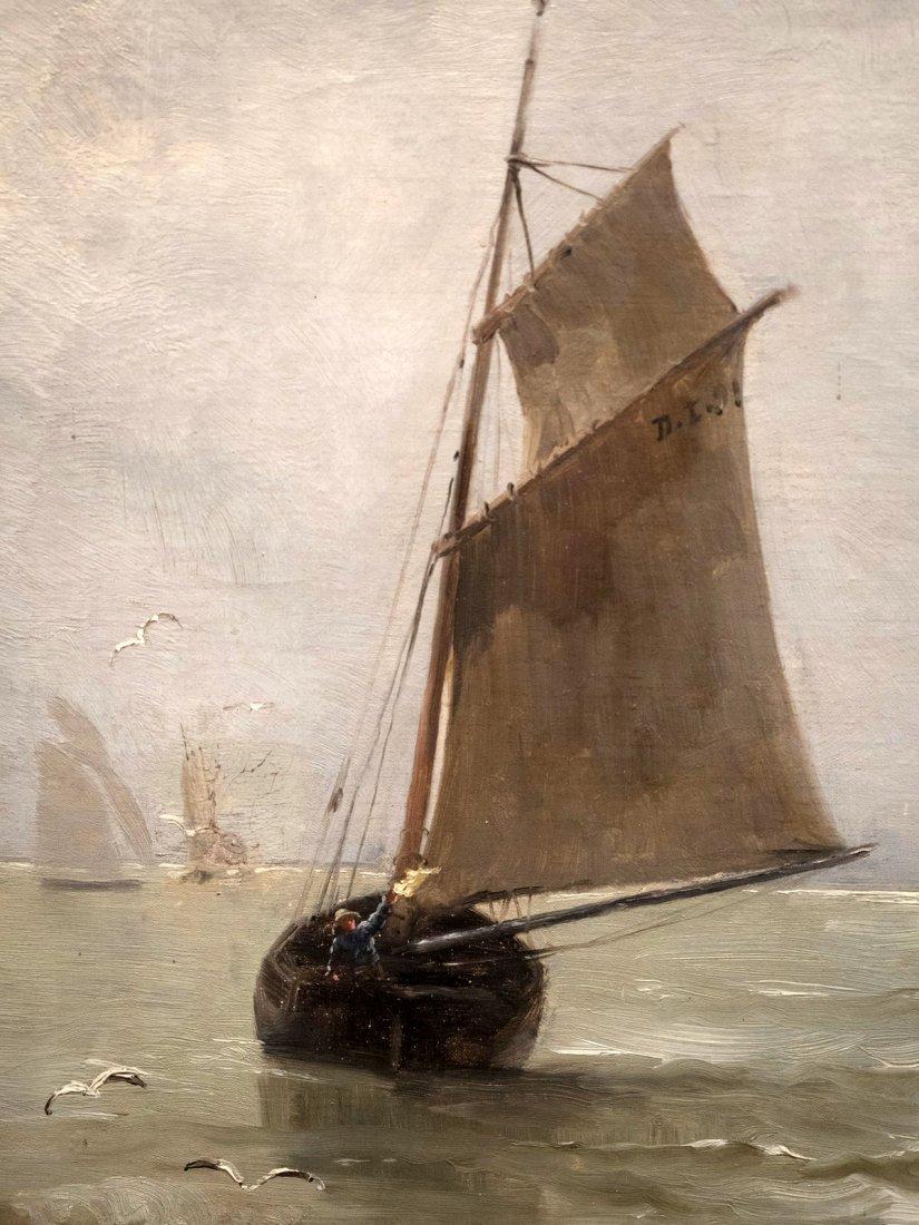 """GEORGES JEAN MARIE HAQUETTE (1854-1906) """"Le Depart """" - 6"""