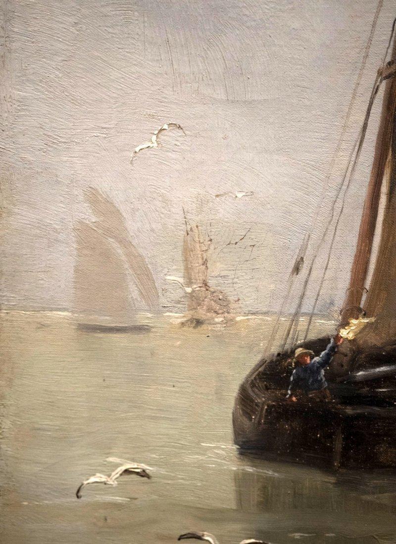 """GEORGES JEAN MARIE HAQUETTE (1854-1906) """"Le Depart """" - 7"""