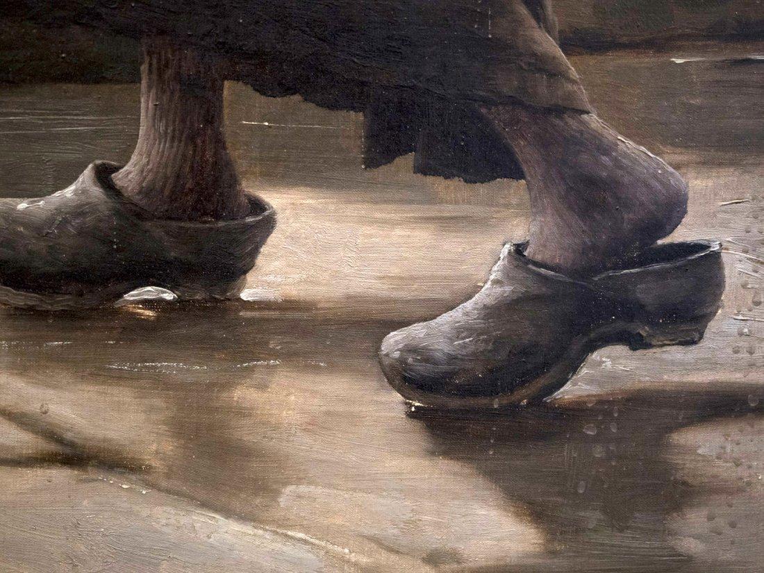 """GEORGES JEAN MARIE HAQUETTE (1854-1906) """"Le Depart """" - 9"""