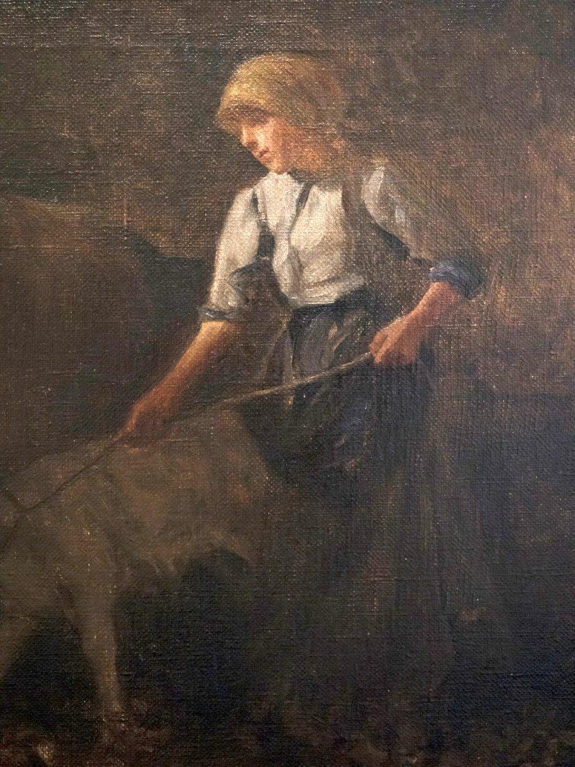 GIUSEPPE MAGNI (1869-1956)Cow and the Calf. - 7