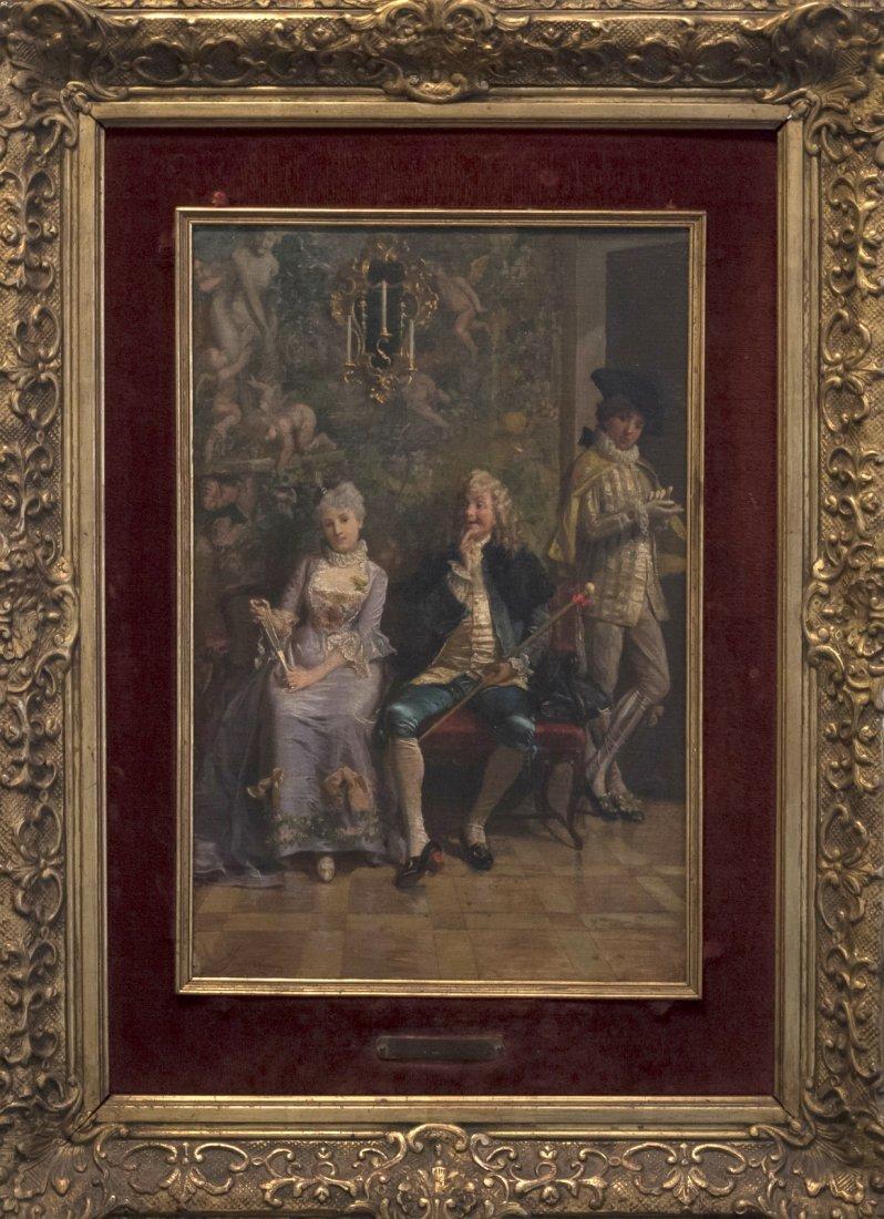 GIACOMO MANTEGAZZA (1853-1920) Scena Galante - 2
