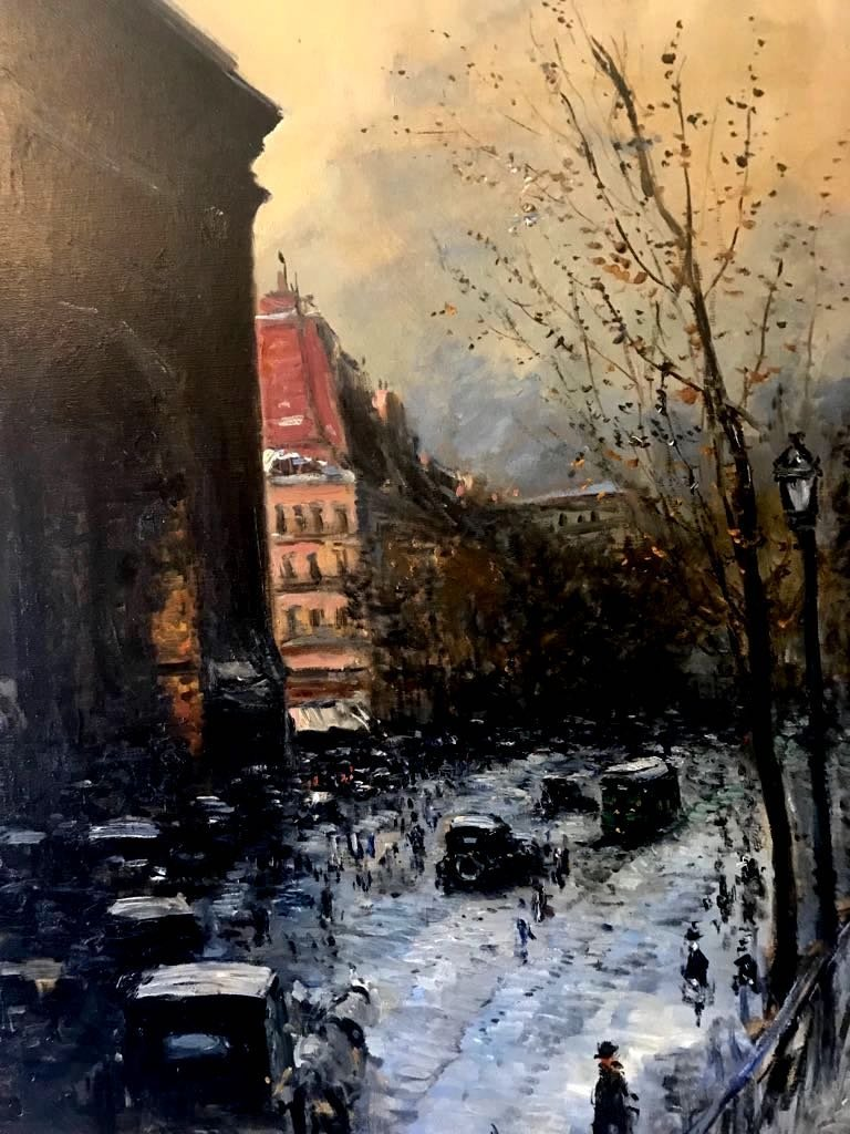 RUIZ PIZARRO (XIX) Winter in Paris - 2