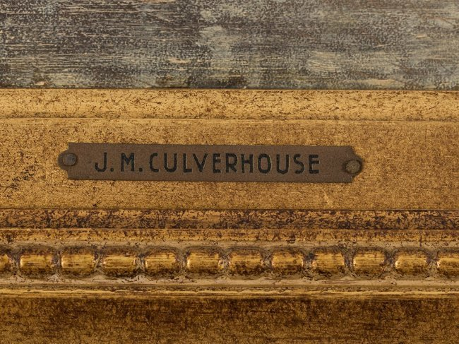 JOHANN MONGEL CULVERHOUSE (1820-1925) Skating in Delft - 7