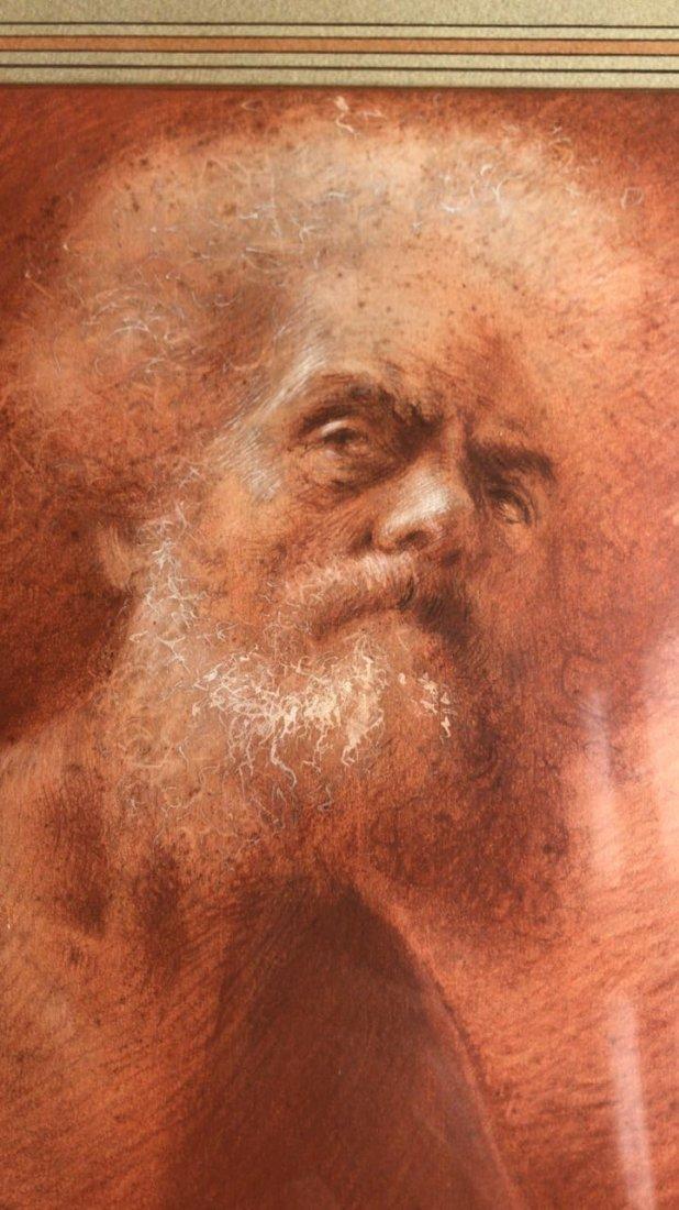 ITALIAN ILLEGIBLE. Old Man Portrait - 7